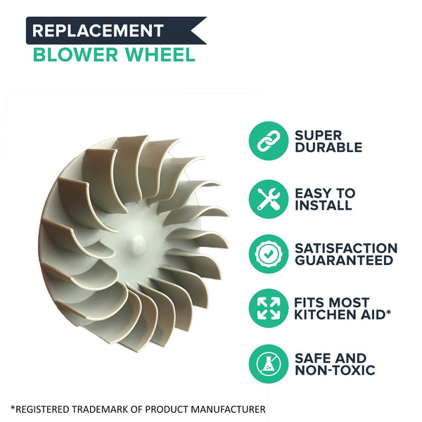 Replacement Dryer Blower Wheel, Fits Amana, Kenmore, KitchenAid, Magic Chef, Maytag, Roper, Whirlpool & More, Compatible with Part 279711