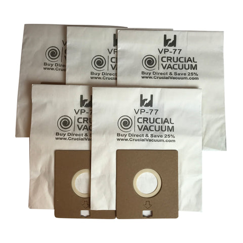 Think Crucial Canada Replacement Vacuum Bags - Compatible with Bissell DigiPro Vacuums Bag Part - Fits VP-77 Power Partner and Canister Model 6900, 67E2, 6594, 6594F - For Parts #32115