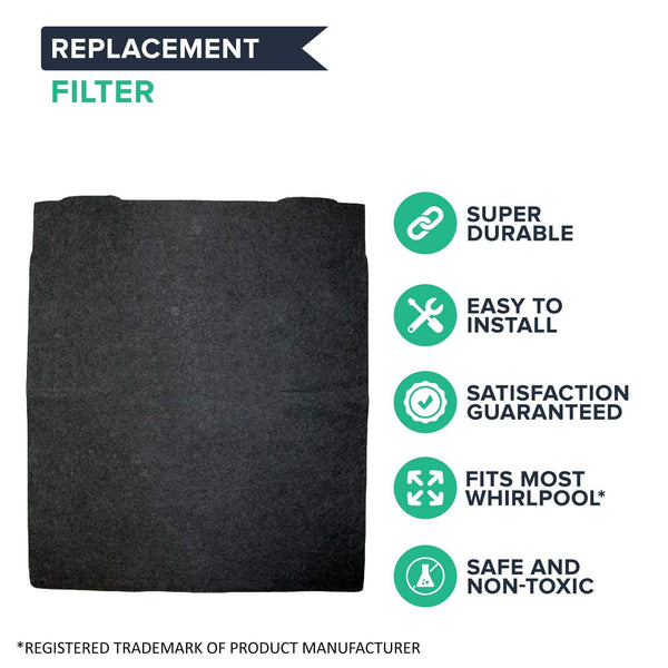 Crucial Air Replacement Air Filters Compatible With Whirlpool Carbon Pre Filter Parts 8171434K, 8171434 For Model AP300, AP350, AP450 and AP510 - 16.4'' x 12.1'' x 1.3''