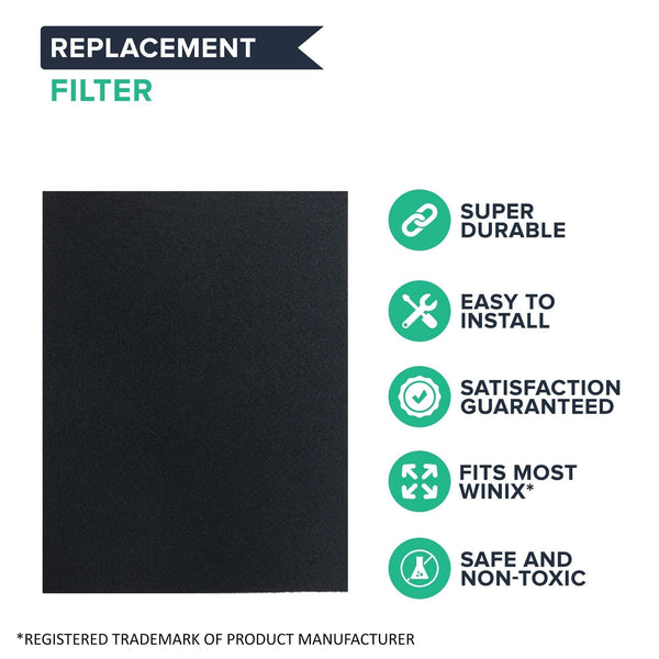 Crucial Air Carbon Filter Replacement - Compatible with Winix Part # 115115 - WAC5300, WAC5500, WAC6300, 5000, 5000b, 5300, 9000, 6300, P300, 5500, 5300-2, 6300-2, C53 - Home, Vacs, Vacuums
