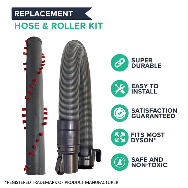 Replacement Hose & Roller, Fits Dyson DC25, Compatible with Part 915677-01, 917391-01 & 914123-01