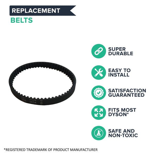 2pk Replacement Vacuum Belts, Fits Dyson DC41, Compatible with Part 920640-01