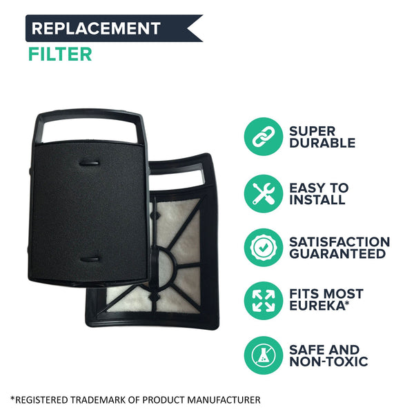 Replacement Dust Cup Filter, Fits Eureka Upright Vacs, Compatible with Part 62733