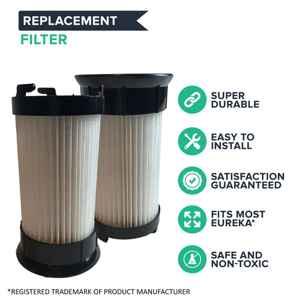 Crucial Vacuum Air Filter Replacement - Compatible With Eureka Part # DCF-4, DCF4, DCF-18, DCF18 - Models 4704BLM, 4702A, 4704BLU, 4704FRD, 4704LMP, 4704LTA 4704ONG, 4704PNK, 4704PUR, 4710AV