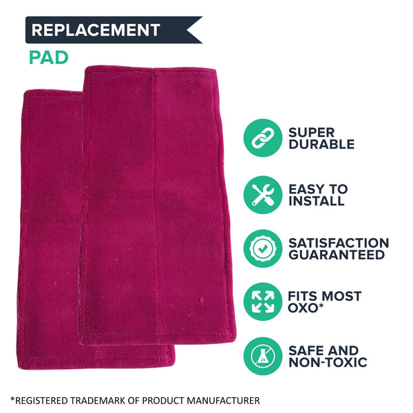 Replacement Duster Pad, Fits OXO Good Grips Floor Duster,Washable & Reusable, Compatible with Part 1343580