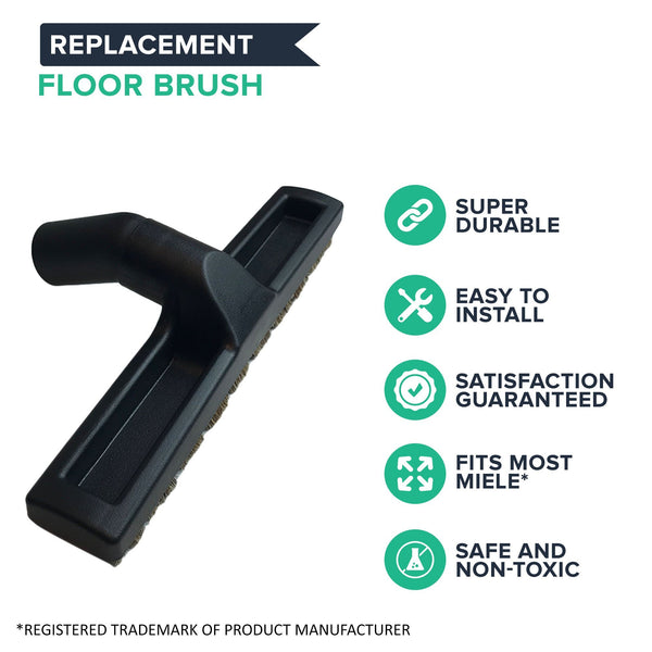 Replacement 35MM Deluxe Hard Floor Brush, Fits Miele