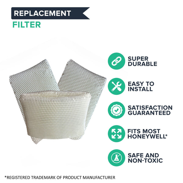Replacement Humidifier Filter, Fits Honeywell QuietCare, Compatible with Part HC-14N