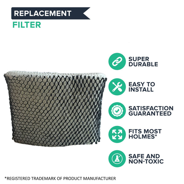 Crucial Air Humidifier WIck Filter Replacement Part # HWF64 Filter B - Compatible With Holmes Air Filters Model HM1761, HM1645, HM1730, HM1745, HM1746, HM1750, HM2200, HM2220, SCM1746