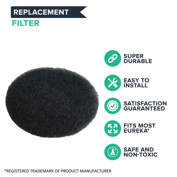 Replacement Motor Filter, Fits Eureka and Sanitaire Canister Vacuums, Compatible with Part 38333