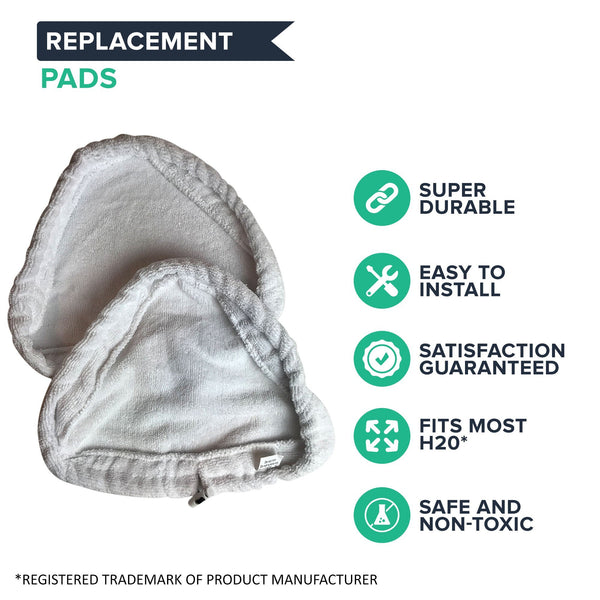 Crucial Vacuum Replacement Steam Mop Pads - Compatible with Steamboy X5 Mops Models - Microfiber Head Pad Measures 11.1