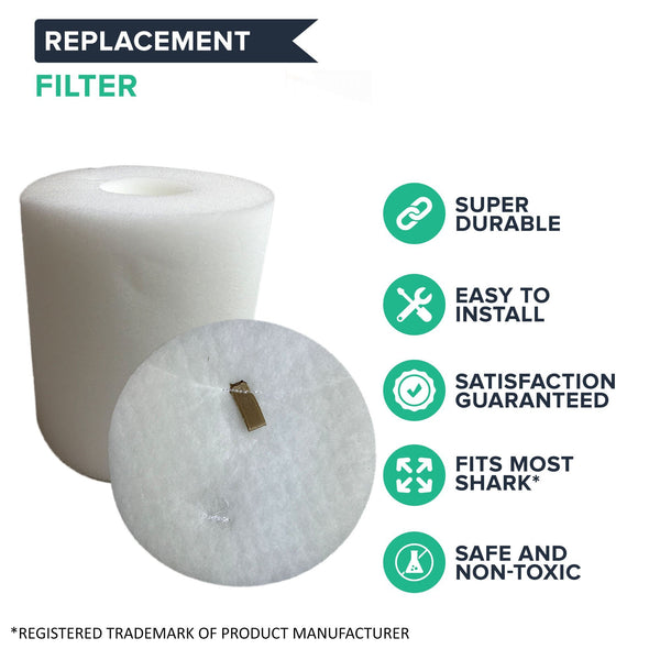 Crucial Vacuum Foam & Felt Filter Replacement Part # XFF500 - Compatible With Shark Rotator Models NV500 NV500CO NV501 NV502 NV503 NV505 NV510 NV520 NV552 NV753 UV560 NV642