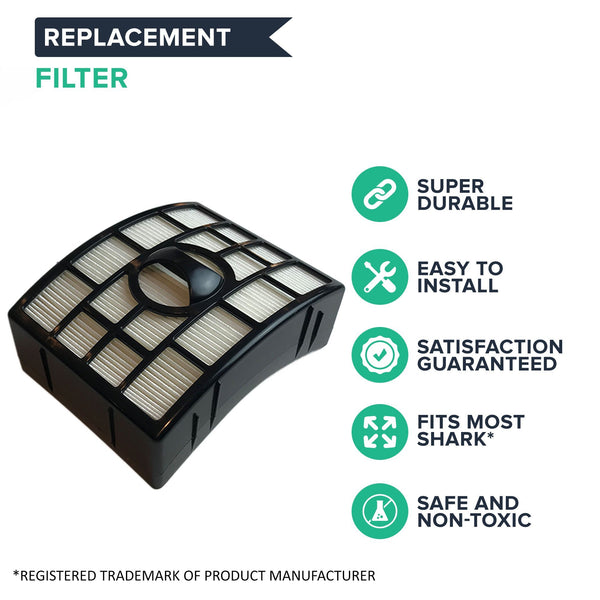 Replacement HEPA Style Filter, Foam & Felt Filter Kit, Fits Shark NV650 Rotator Lift-Away, Compatible with Part XFF650 & XHF650