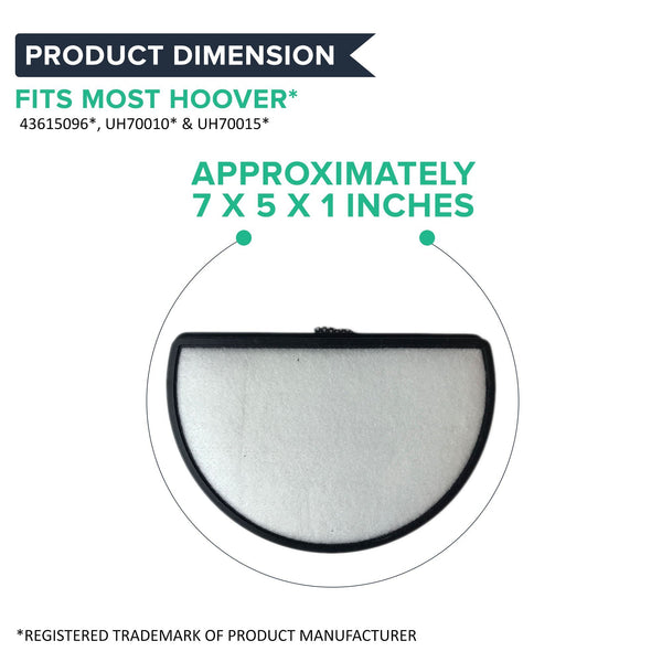 Replacement Primary Filter, Fits Hoover Platinum Cyclonic Vacuums, Washable & Reusable, Compatible with Part 43615096