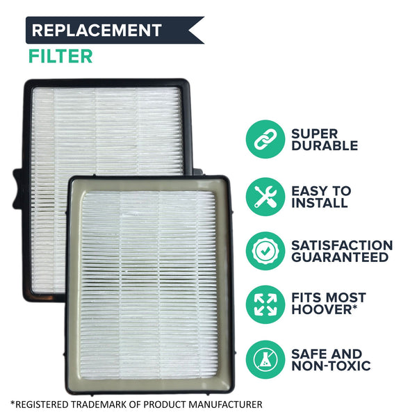 Replacement HEPA Style Filter, Fits Hoover Platinum Cyclonic Bagless Vacuums, Compatible with Part 38765035