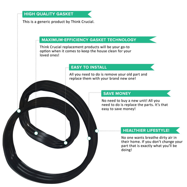 Replacement Pressure Cooker Gasket Seal, Fits Mirro S-9892 & 4, 6, 8 QT Models