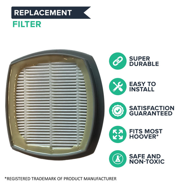 Replacement Primary Filter, Fits Hoover Presto SH20090 Stick Vacuums, Washable & Reusable, Compatible with Part 440002094