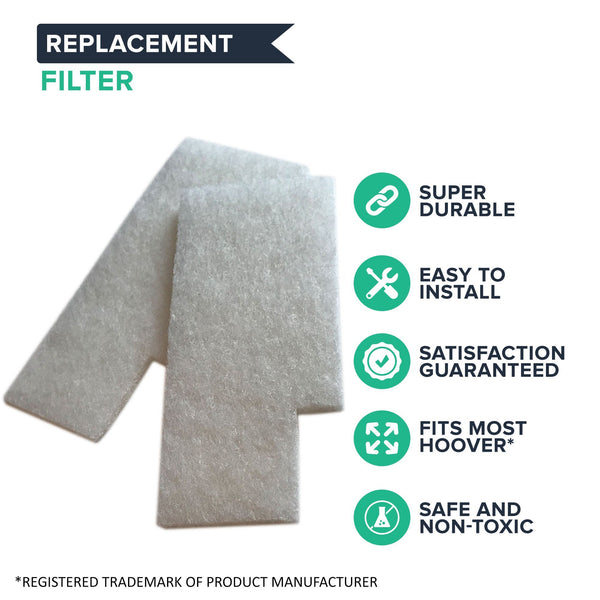 Crucial Vacuum Filter Replacement Parts Compatible With Hoover Secondary Filters Part # 38765019, 38765023 - Fits Hoover Tempo, WidePath, Fold Away, and WindTunnel Vacuums - Perfect For Home