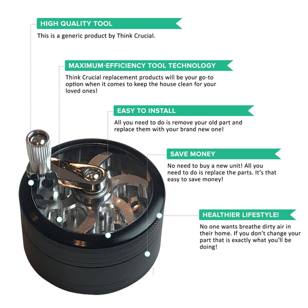 2.5 In Herb & Spice Manual Grinder, Perfect for Kitchen & Personal Use!