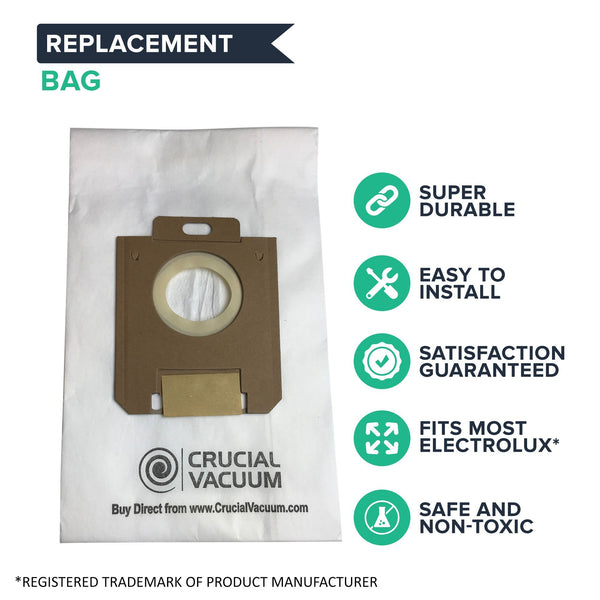 Crucial Vacuum Replacement Paper Bags Part # 433934 20-5055 20-50557 02050557000 20-50558 609307 - Compatible With Kenmore Allergen Filtration Paper Bags Replacement Parts, 5055 50557 50558