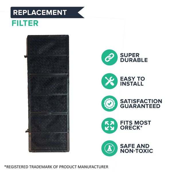 Replacement Air Purifier Filter, Fits Oreck Tabletop Professional Pro Air Purifier, Compatible with Part AP1PKP