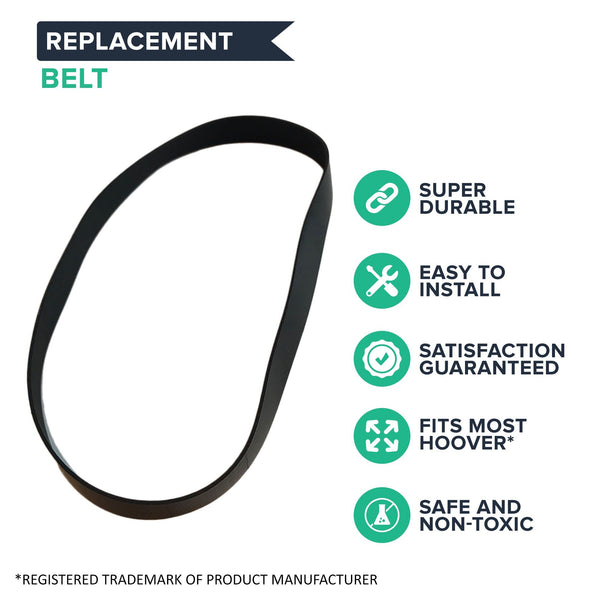 Replacement Flat Belt, Fits Hoover T-Series Vacuum, Compatible with Part 562289001 & AH20065