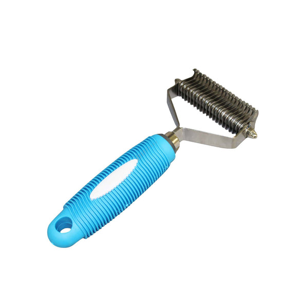 Dog & Cat Grooming Undercoat Rake, 20 Teeth Wide, Stainless Steel