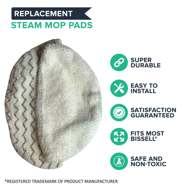 Replacement Steam Mop Pads, Fits Bissell PowerFresh, Compatible with Part 5938 & 203-2633