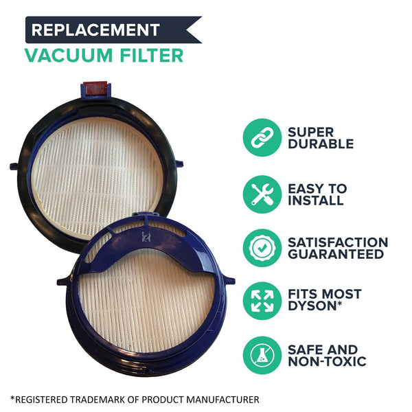 Crucial Vacuum Replacement Vacuum Filter – Compatible with Dyson Post-Motor HEPA Style Filter Part # 916188-05 – Fits Dyson DC25 Vacuum Model – Bulk (1 Pack)