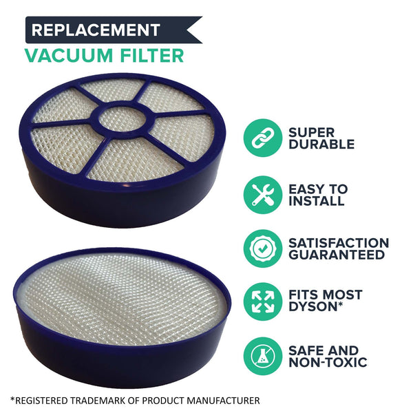 Replacement Post HEPA Style Filter, Fits Dyson DC33, Compatible with Part 921616-01