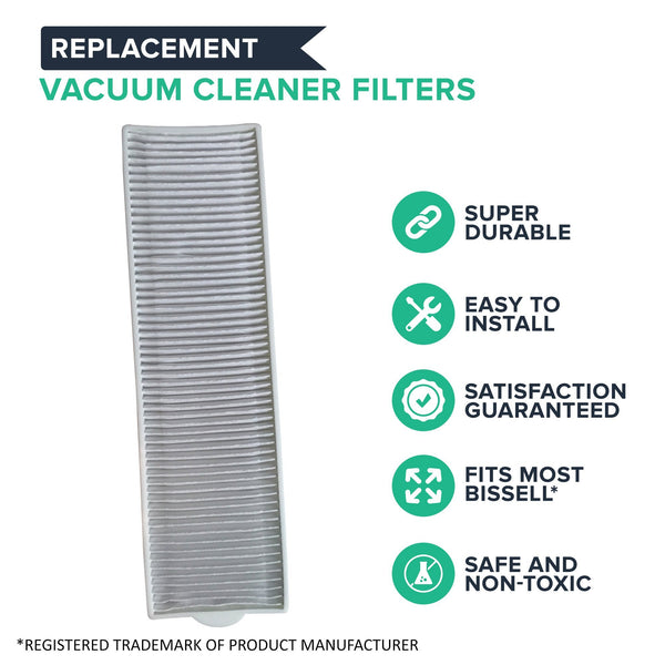 Crucial Vacuum Replacement Filter Parts Compatible with Bissell Filter 8 14, Part 3091 2038093 203-6608 470856 FX HVF090 - HEPA Style, Fits Vacs Momentum Velocity Bagless Upright