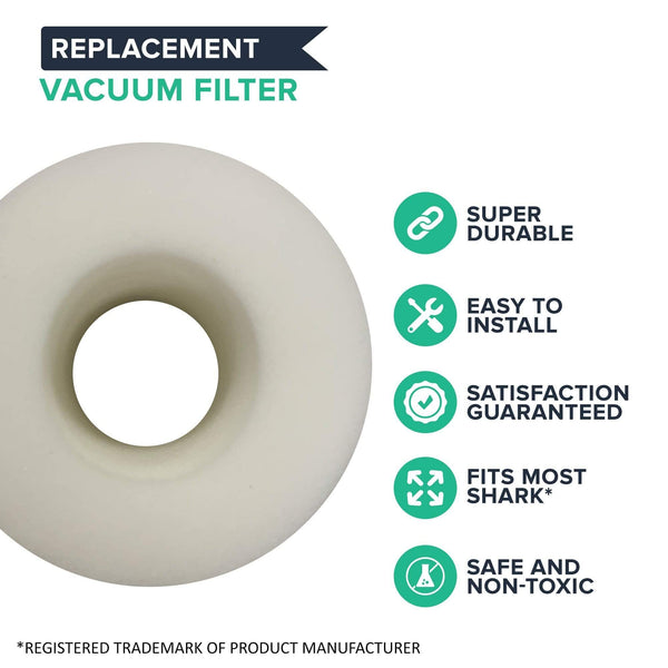 Crucial Air Replacement Vacuum Pre Filter Compatible with Shark Vacuum Parts XFF650, Models Rotator Powered Lift-Away, Duoclean Vacs NV650, NV650 NV835 NV651 NV652 NV750, HEPA Style