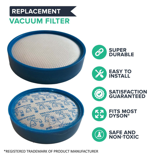 Crucial Vacuum Replacement Vacuum Filter - Compatible with Dyson DC25 - Pair with Part # 914790-01 & 919171-02 For Long Life - Lightweight, Compact, Washable and Reusable (1 Pack)