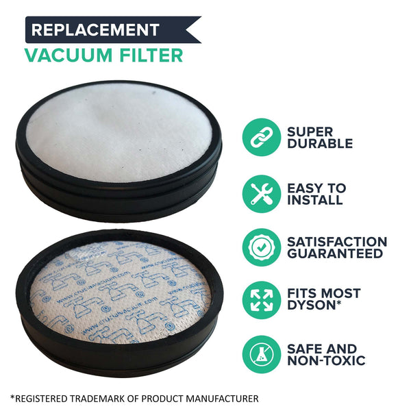 Crucial Vacuum Pre-Filter Replacement - Compatible with Dyson DC-18 Pre-Motor Filter - Pair with Part 911685-01 For Long Life - Compact, Washable, Reusable Vacuum Filter - Perfect For Home