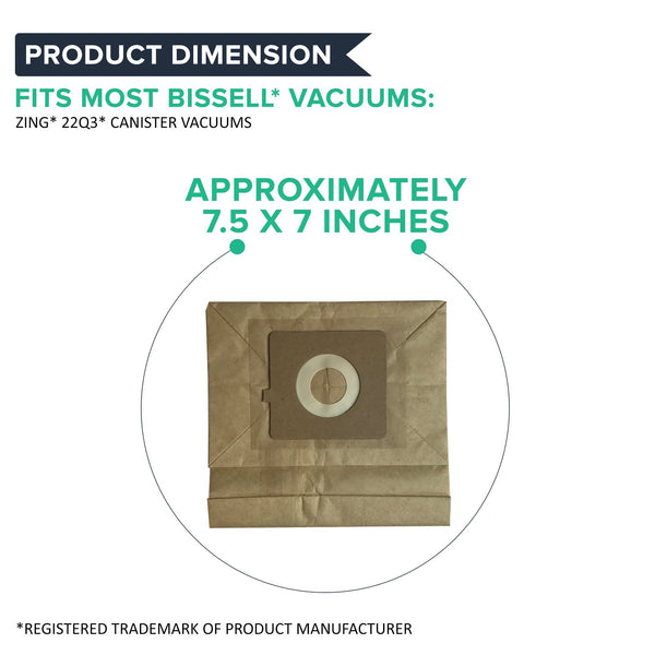 Replacement Vacuum Bags & Filters, Fits Bissell Zing 22Q3 Series, Compatible with Part 77F8