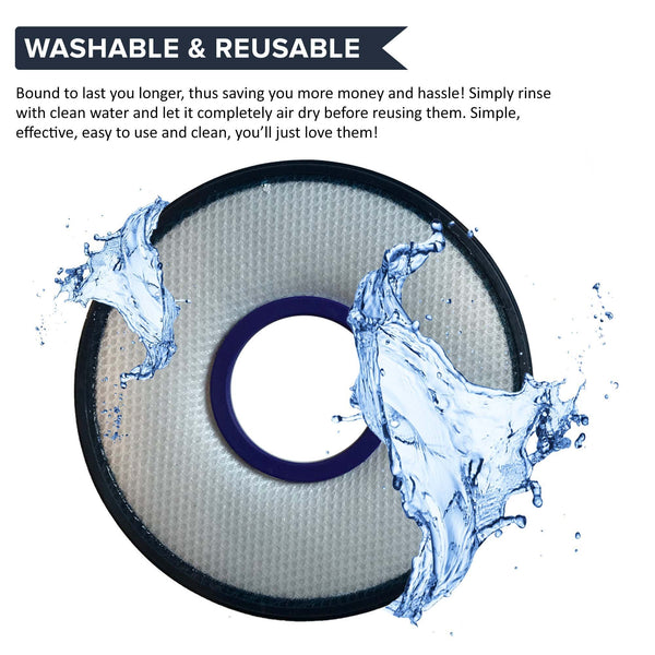 Replacement Washable Pre Filter, Fits Dyson DC26, Compatible with Part 919779-01