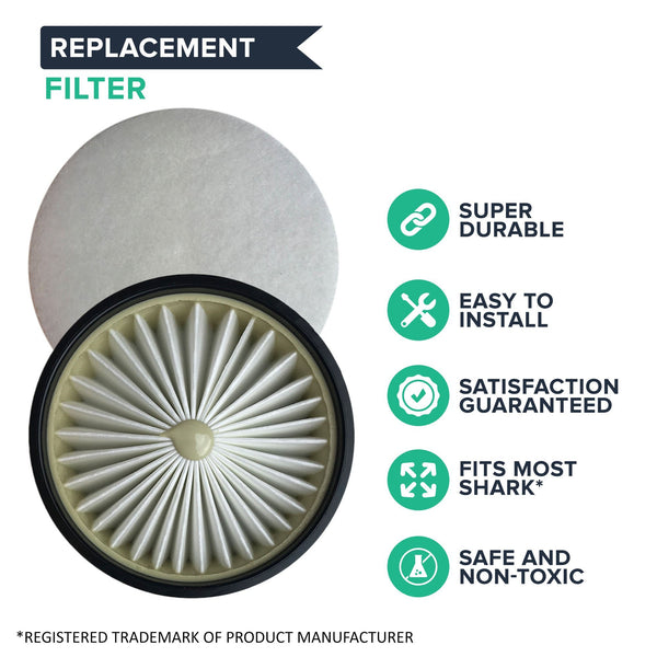 Replacement HEPA Style Filter & Felt Filter Kit, Fits Shark, Compatible with Part XSB602