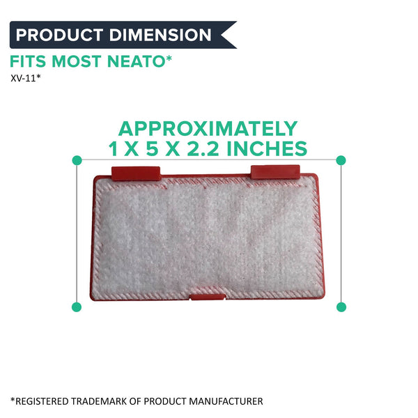 Replacement Air Filters, Fits Neato XV-11, XV-12, XV-15 & XV-21, Compatible with Part 945-0004 & 945-0023