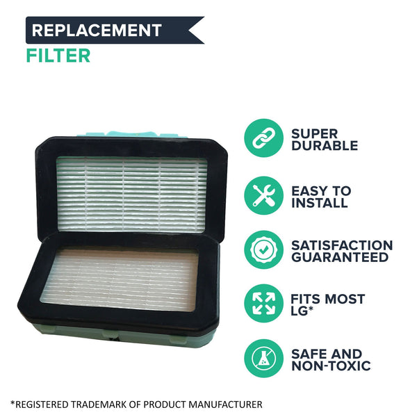 Replacement HEPA Style Filter, Fits LG Zenith LuV300B, Compatible with Part ADQ72913001