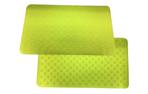 Non Slip Bath Mat Anti-Bacterial Deluxe Shower & Bath Mat, 16x28, Green