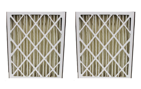 2pk Replacement 20x25x5 MERV-8 Pleated HVAC Furnace Filters, Fits Goodman