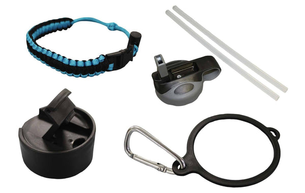 Perfect Kit For Your Hydro Flask: Flip Lid, Lid & Straws, Paracord Handle, Ring & Carabiner | Kitchen & Dining | Hydro Flask | Plastic