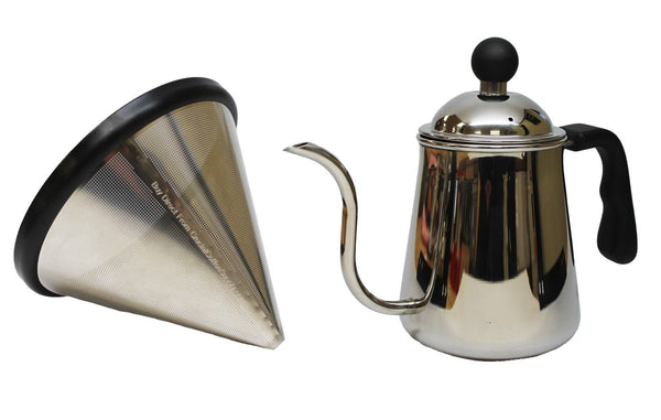 Washable & Reusable Stainless Steel Cone Coffee Filter | Fits Chemex 6, 8 & 10 Cup Coffee Makers & Pour Over Kettle | Kitchen & Dining | Chemex | Affordable