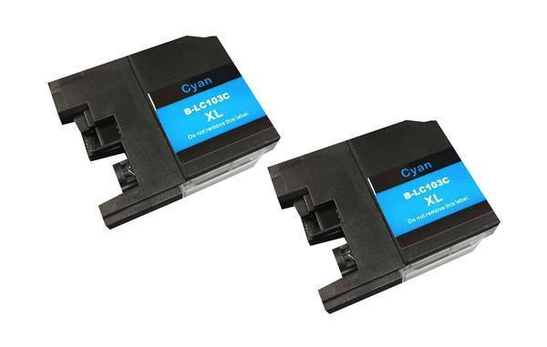 Replacement Cyan Toner Ink Cartridge, Fits Brother Printers, Compatible with Part LC-103XL