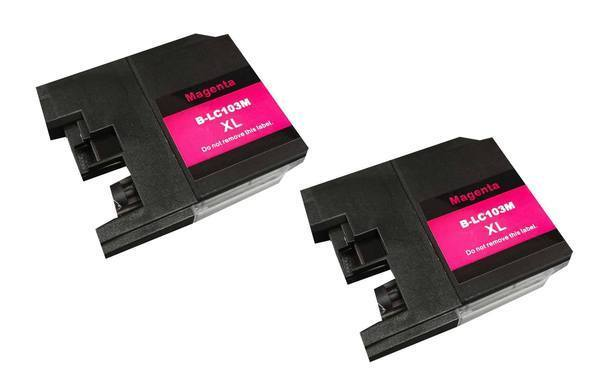 Replacement Magenta Toner Ink Cartridge, Fits Brother Printers, Compatible with Part LC-103XL
