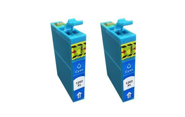 Replacement Cyan Ink Cartridge, Fits Epson 126, Compatible with Part T126120