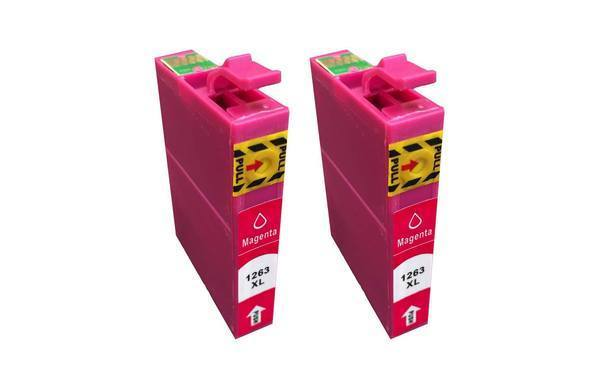 Replacement Magenta Ink Cartridge, Fits Epson 126, Compatible with Part T126120