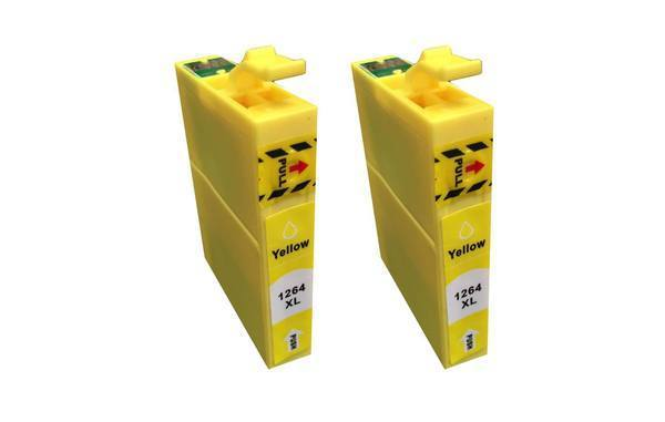 Replacement Yellow Ink Cartridge, Fits Epson 126, Compatible with Part T126120