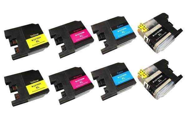 Replacement Black, Cyan, Magenta & Yellow Toner Ink Cartridges, Fits Brother Printers, Compatible with Part LC-103XL