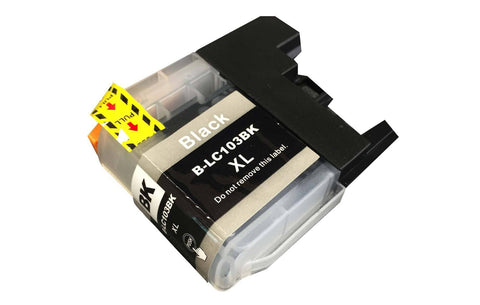 Replacement Black Toner Ink Cartridge, Fits Brother Printers, Compatible with Part LC-103XL