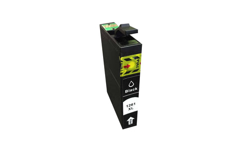 Replacement Black Ink Cartridge, Fits Epson 126, Compatible with Part T126120